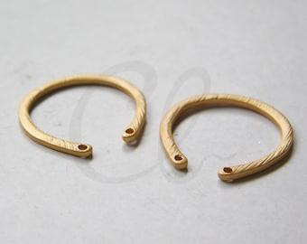 One Piece Premium Matte Gold Plated Base Metal U Links - 27x25mm (197C-Q-205)