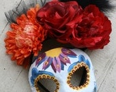 Spectre Inspired Day of the Dead Masquerade Mask and Headdress Set