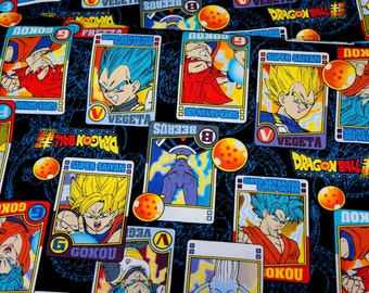 """Dragon ball fabric 50 cm by 106 cm or 19.6"""" by 42"""" Half meter"""