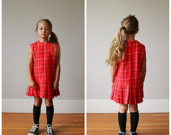 1960s Acrylic School Girl Dress >>> Size 5t/6