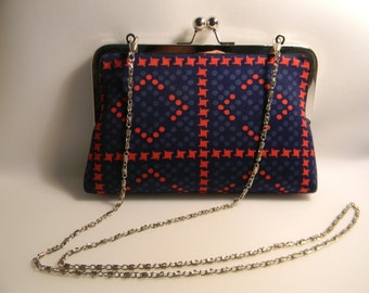 Retro Vintage Print Clutch Purse