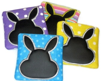 Bunny mini chalkboards - party favor - school give away #4513