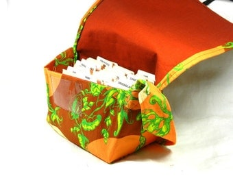 Ready to Ship Mega Large Coupon Organizer Holder Orange Lime Green Treetop