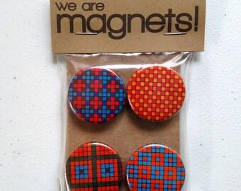 Blue & Orange Pixels Magnet Set (one of a kind)