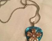 Flower Guitar Pick Necklace