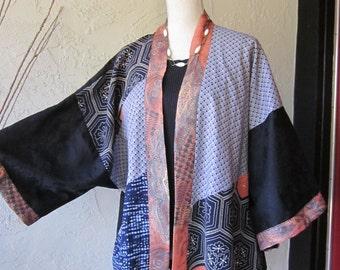 Kimono Jacket With Assymetrical Design