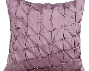Lavender Purple Pillow Cases 16x16 Couch Pillows Embroidered Taffeta Pillow Cover - Lavender Texture