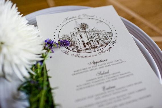 RESERVED FOR BEVERLY - 100 Wedding Reception Menus Custom