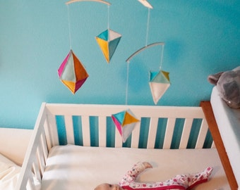 Geometric Mobile - Baby Mobile - Nursery Mobile - Colorful Mobile