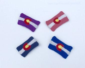 Colorado State Flag hair clip -- Colorado pride hair clip, barrette, Colorado flag design