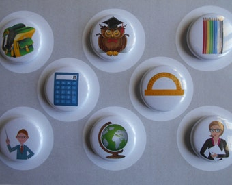 High School Flair Buttons-YOU CHOOSE STYLE