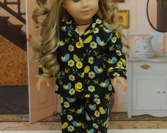 Pajamas for American Girl doll - Pretty Partridge