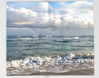 Throw Blanket Fleece Blanket Sofa Throw Ocean Sea Beach Photo 10 by Lucie Dumas