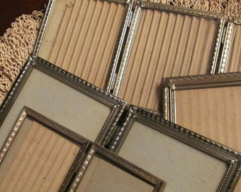 Gold Metal Rustic Retro Picture Frames, Weddings, Gallery Collection, Variety,Thisplusthat,Lot of 4