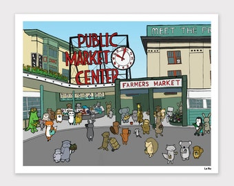 Pike Place Market Print