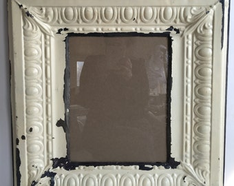 Reclaimed Tin Ceiling Cream 11 x 14 Picture Frame Photo 2606-15