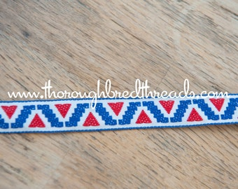 1.5  yards of Mod Vintage Trim -  60s 70s New Old Stock Woven Geometric Woven