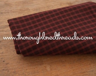 Mad About Plaid - Vintage Fabric Multi-Colored Checked Preppy Burnt Red Black