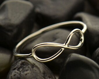 Sterling Silver Infinity Ring - Solid 925 - Insurance Included