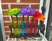 Silk Flower Ink Pen - Flower pens in a shot beaker  for 19.95 SALE
