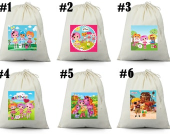 12 LALALOOPSY  Birthday Party Favor Candy Loot Treat Drawstring Bags