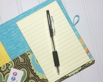 Mini Shopper - Notepad holder List taker - Amy Butler   - NEW optional leather spine