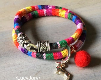 Dachshund Bohemian Ethnic Cord Bracelet