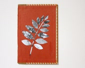 Original Paper Collage on Book Cover - Foliage I - Free Shipping