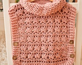 Crochet Pullover PATTERN (pdf file) - Rose Poncho - Pullover (sizes from 1-2y up to Adult XL) - Instant download