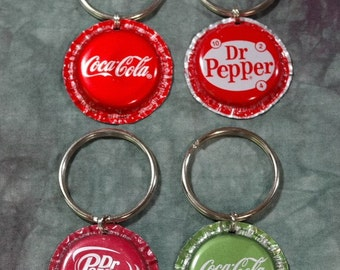 "Dog collar ""Bling"" charms from recycled Coca-Cola & Dr Pepper Bottle Caps (Sold Separately)"