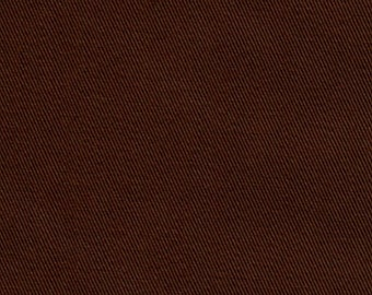 60 Inch Wide ORGANIC Cotton Twill Fabric By the Yard NUTMEG BROWN