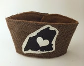 Maine Love Coffee/Beer Cozy with Gift Card Holder Option