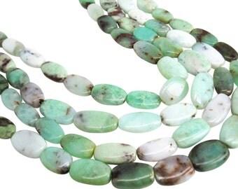 Chrysoprase Beads, Chrysoprase, Oval Shape, 14mm x 24mm, SKU 3954A