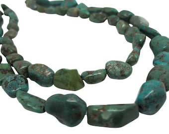 Turquoise Nugget, Turquoise Beads, Green Blue Turquoise, December Birthstone, SKU 4518A