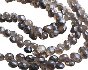 Smokey Topaz Beads Briolettes, Onion Briolettes, 8.5mm, Loveofjewelry, Weddings, Brides Bridal, SKU 2124A