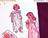 October Sale 25% OFF 1940s Toddler Nightgown Pattern size 2 Toddler Girls Pajama Pattern, Vintage Sewing Pattern 40s