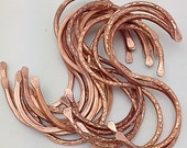 "Copper ""S"" Hooks. 8 Pot Rack Hooks. Copper Kitchen Hooks. Cookware Hooks. Display Hooks. Set of 8"