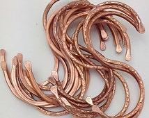 "Copper ""S"" Hooks. 8 Pot Rack Hooks. Copper Kitchen Hooks. Cookware Hooks. Display Hooks. Set of 8"
