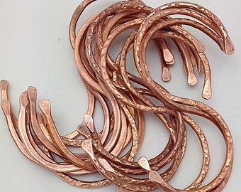 "Copper ""S"" Hooks. 50 Pot Rack Hooks. Copper Kitchen Hooks. Cookware Hooks. Display Hooks. Set of 50. Artisan Hand crafted Hook."