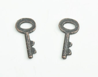 Key Charm,  sold by 6 each ,21mm, 15829