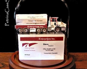 Petroleum Carrier Truck -Business Card Sculpture Item 1416
