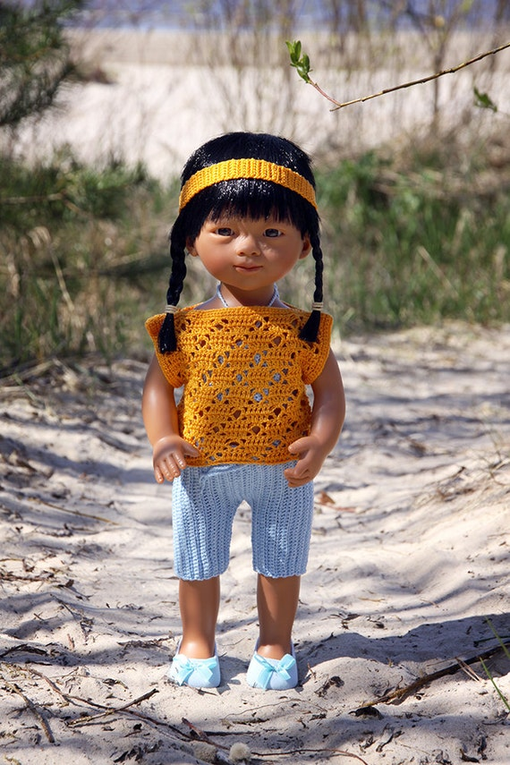 """Summer Outfit for 13""""-15'' Dolls"""