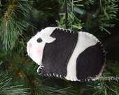 Felt Black & White  Guinea Pig Ornament