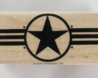 Star in Circle Stampin Up! Rubber Stamp #RS103