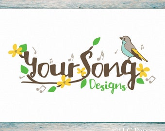 Premade Logo Design, Custom Logo, Photography Logo,  Soap Logo, Business Logo, Bird Logo, Watermark, Music Logo, Logo, Tree Logo