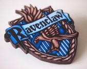 Ravenclaw House Shield - Harry Potter - Laser Cut Wood Brooch