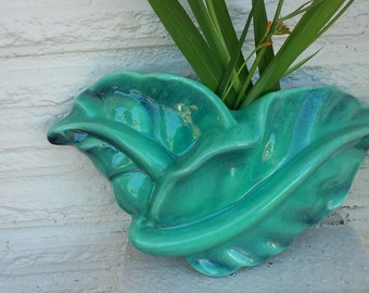 Vintage 50's Ceramic Lily Wall Pocket / Planter