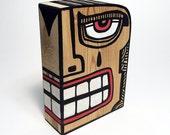 Funk Totem Part No. 376 - Original Mixed Media Block - Vol. 14