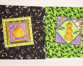 halloween mug rugs pumpkin mug rugs halloween snack mats halloween candle mats - Halloween Rugs