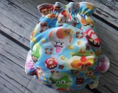 One Size Stay Dry Overnight Fitted Cloth Diaper in 1Up Gamer by Soothe Baby